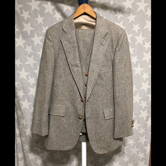 Union Made Other - Union Made Light Brown Houndstooth 3 Piece Siut